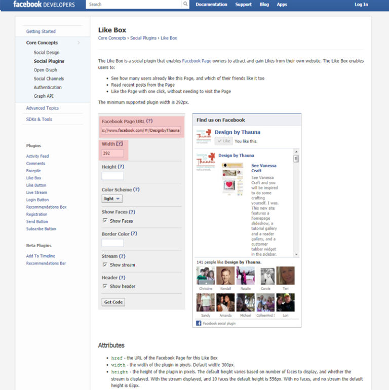 Add a Facebook Like Box to your Sidebar