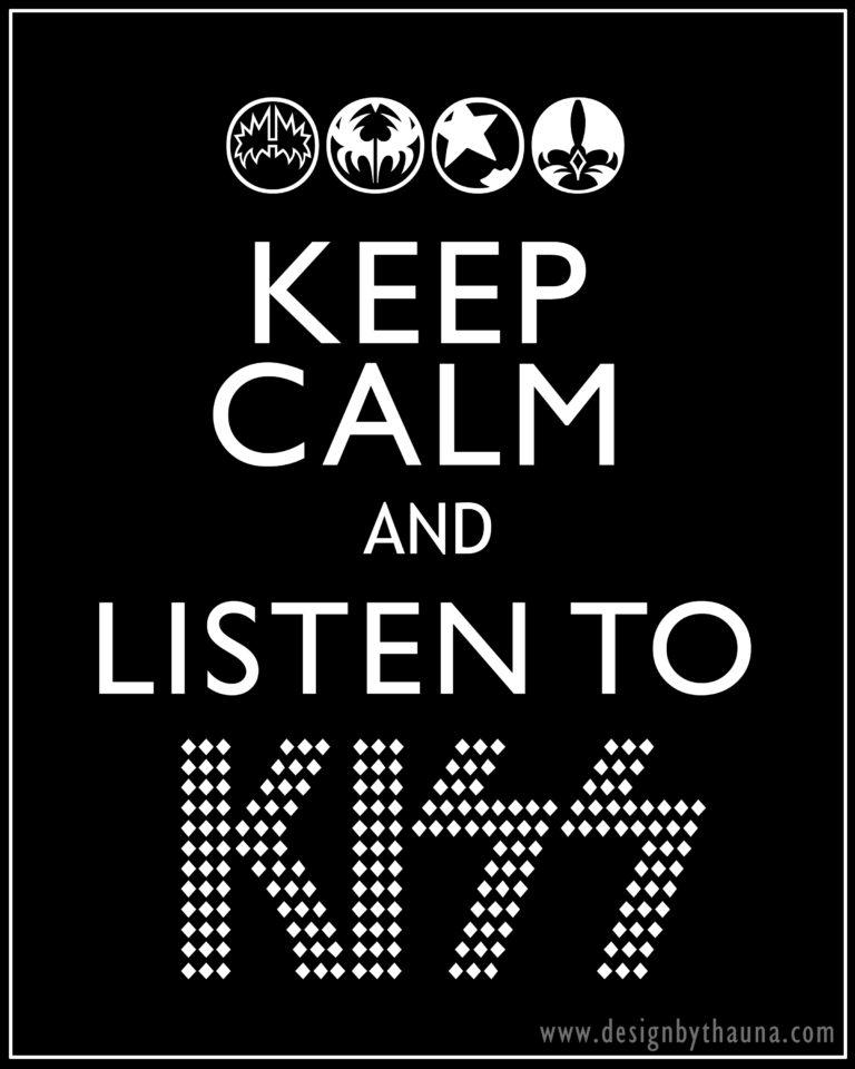 Keep Calm + KISS {freebie}