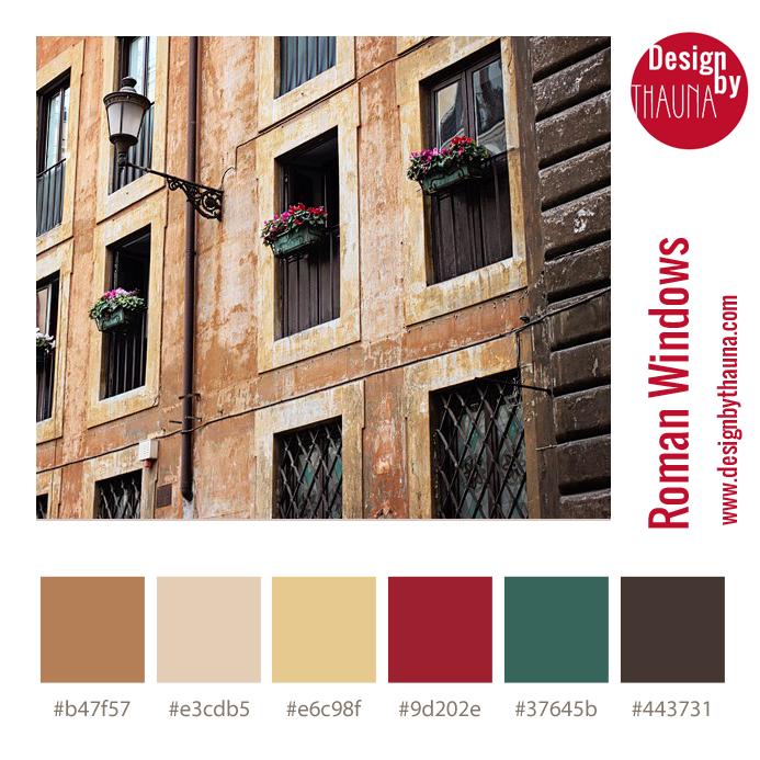 Roman Windows - Color Palette