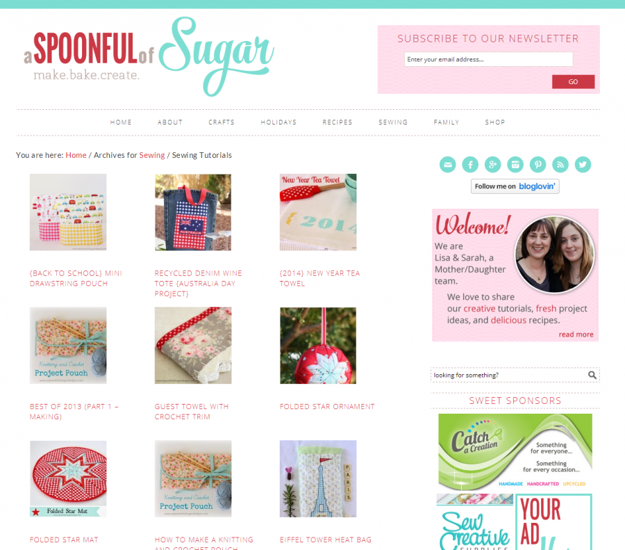 A Spoonful of Sugar - Category Page
