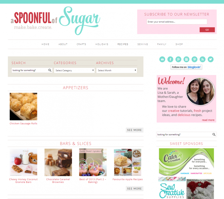 A Spoonful of Sugar - Recipe Index