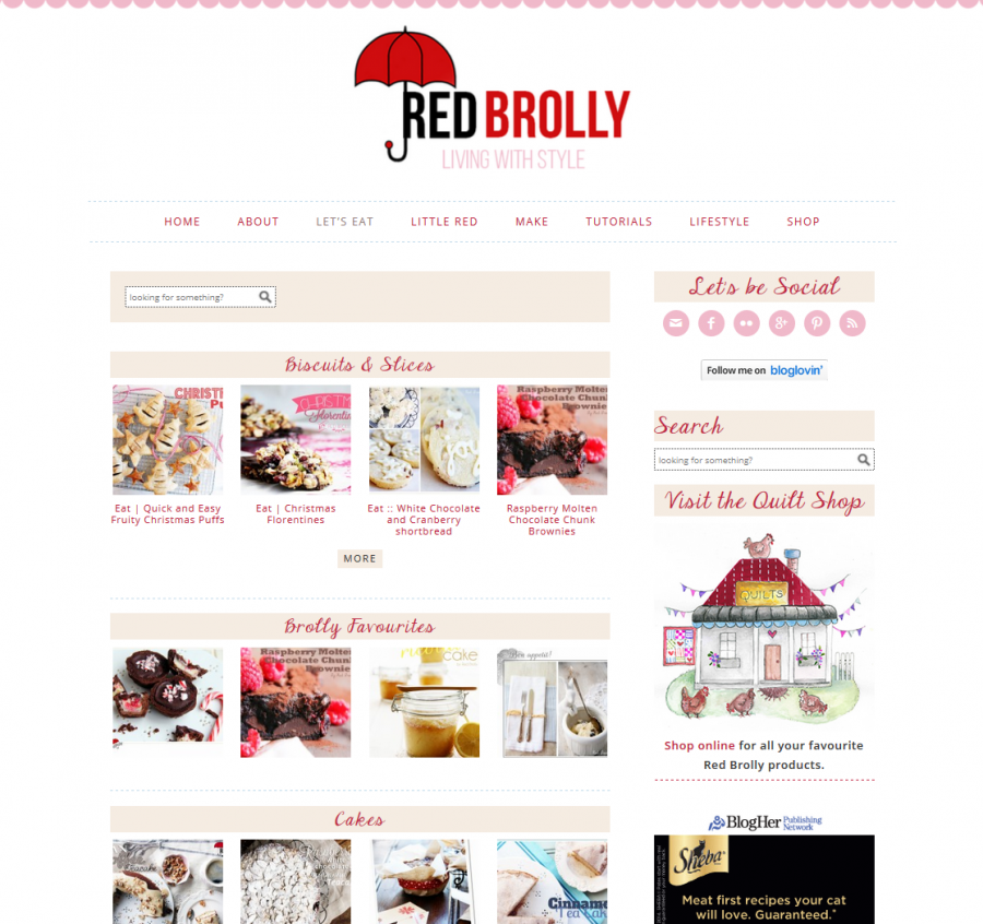 Red Brolly - Recipe Index