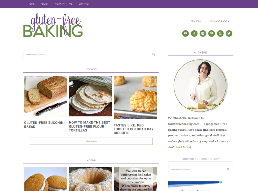 Gluten-Free Baking Recipe Page