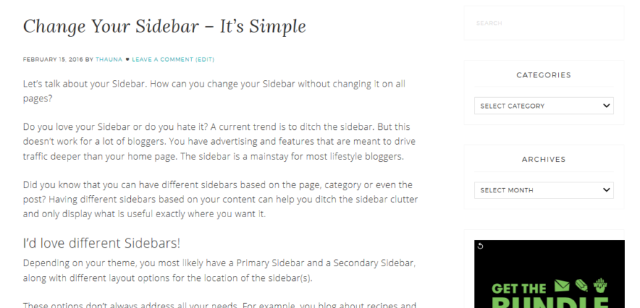 Change Your Sidebar post-sidebar