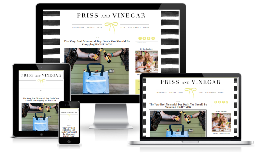 Priss & Vinegar Responsive