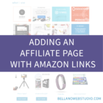 Adding an Affiliate Page with Amazon Links