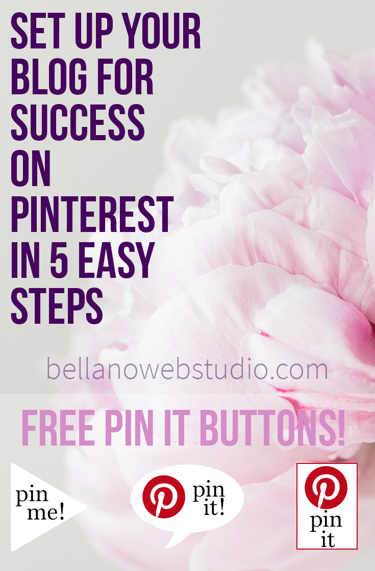 5 Easy Steps to Get Noticed on Pinterest and set your blog up for success.