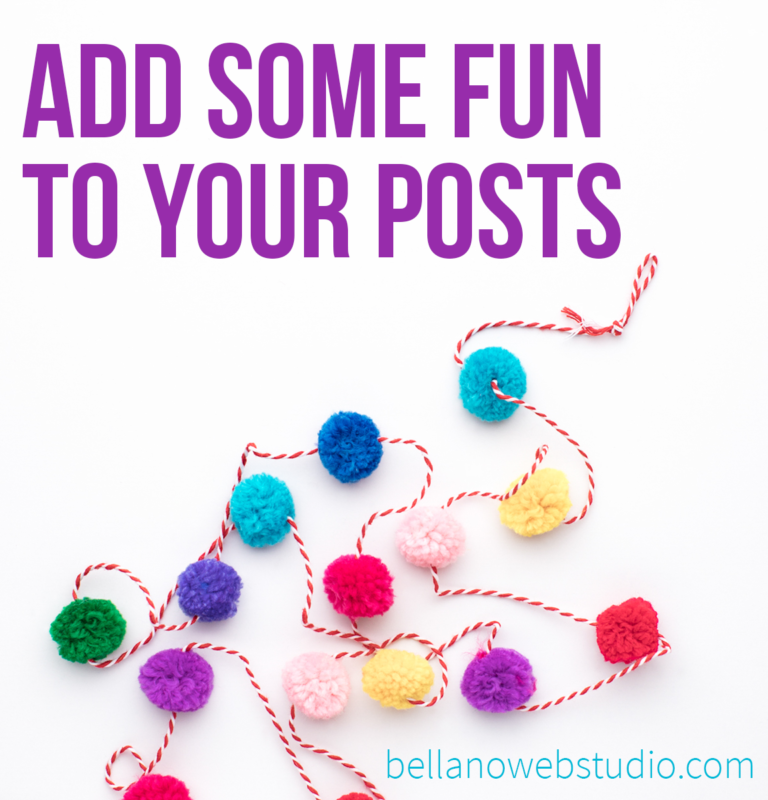 Add some fun to your posts with GIFs…